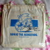 Sega Sonic The Hedgehog Draw String Bag Signed By Yuji Naka