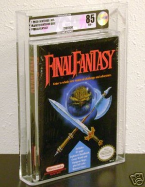 sealed final fantasy nes vga graded 85