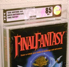 sealed final fantasy nes vga graded 85 title