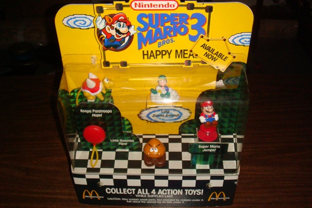 Super Mario Happy Meal Toys