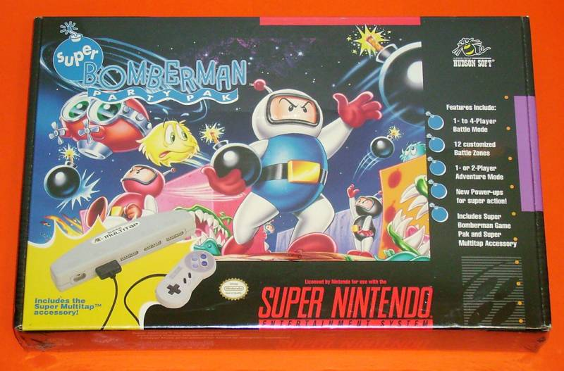 Adaptateur 4 joueurs SNES Super-Bomberman-Party-Pak-Nintendo-SNES-NEW-SEALED