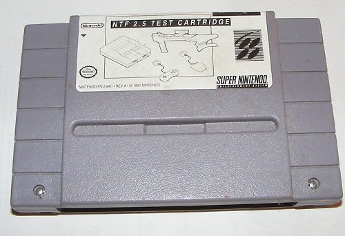 Rare SUPER NINTENDO TEST Cartridge NTF 2.5 SNES