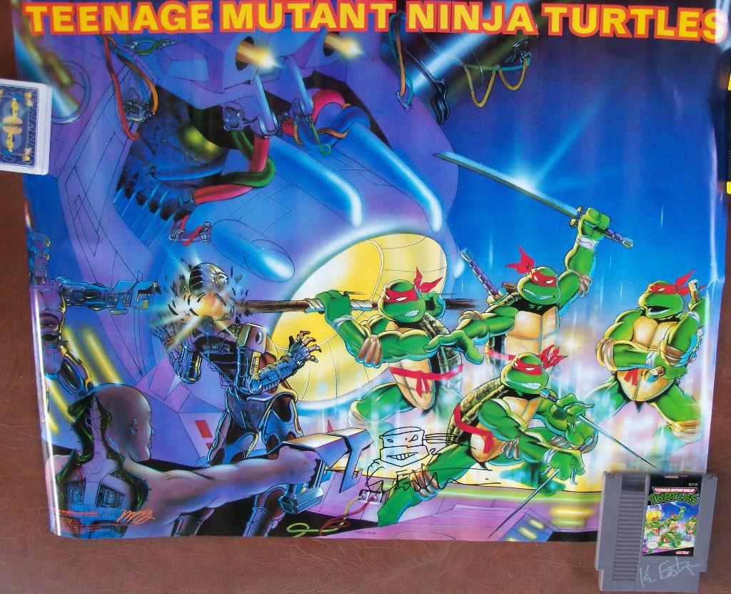 Nes teenage mutant ninja turtles game tmnt poster auto jpg