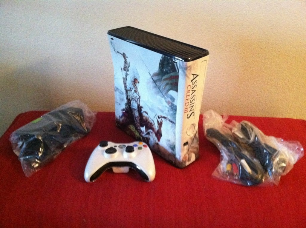 Xbox 360 limited edition assassin s creed 3 video game console rare
