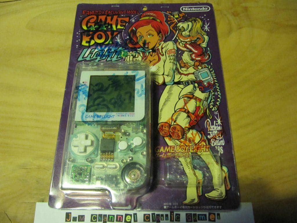 Nintendo Game Boy Light Famitsu F 02 model Boxed and signed