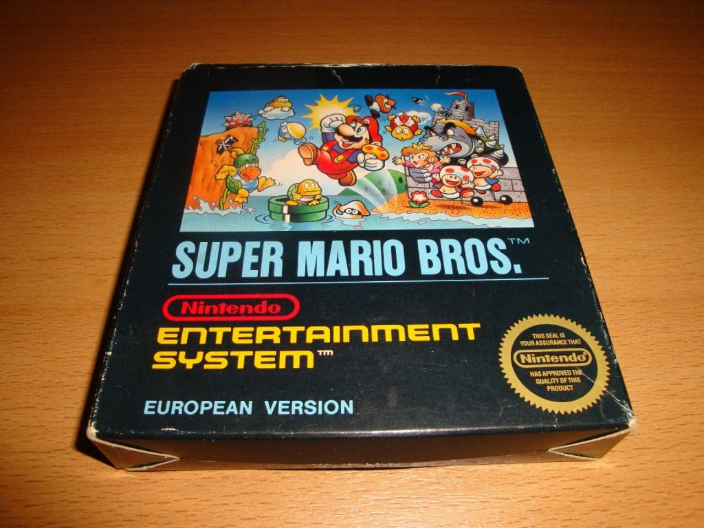 Super Mario Bros Small black box ( nintendo 8-bit NES ) CIB european ...
