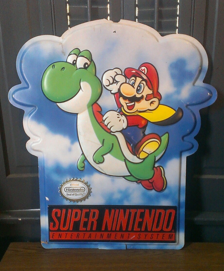 Super-Nintendo-store-display-sign-SUPER-
