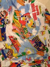 1988 SUPER MARIO BROS. ZELDA Twin Bed Fitted Sheet