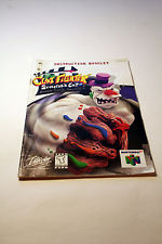 Clay Fighter SCULPTOR'S CUT Nintendo 64 INSTRUCTION MANUAL - VERY RARE !!