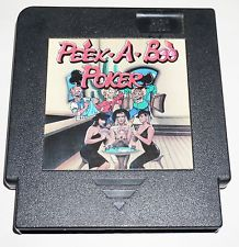 PEEK-A-BOO POKER --- NES Nintendo --- Amazing Condition ** Rare **